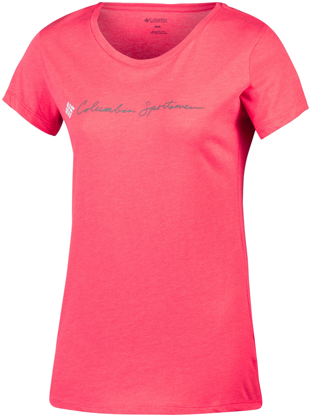 Columbia Women's CSC Script Logo Short Sleeve T-shirt Red Camellia-30