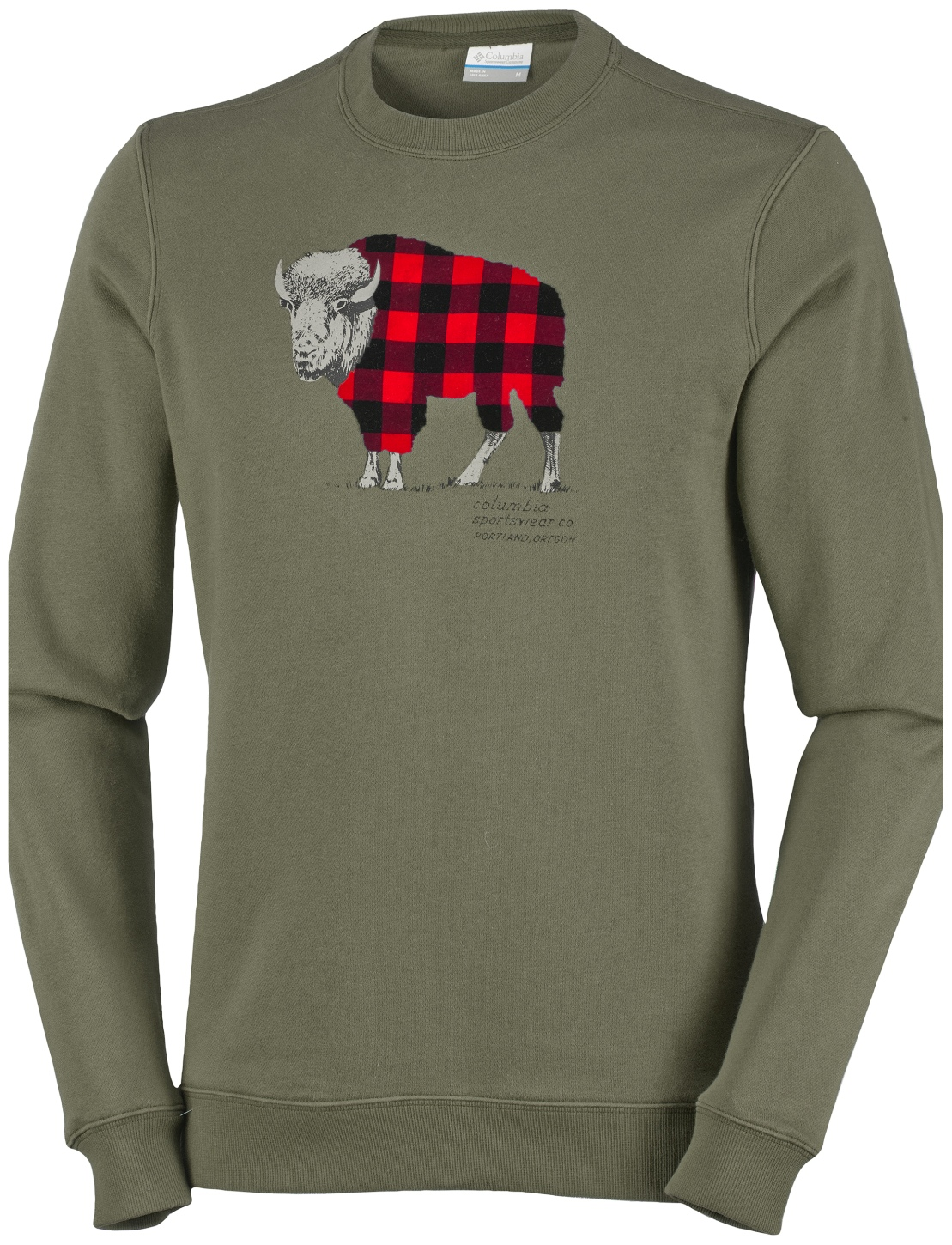 Columbia Men's CSC Check The Buffalo Crew Sweatshirt Peatmoss-30