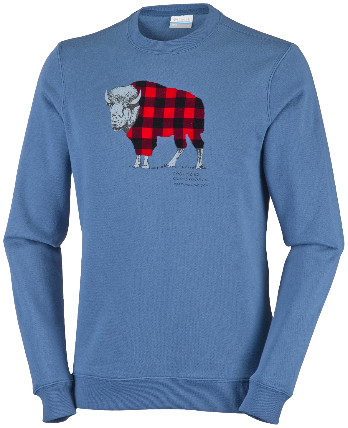 Columbia Men's CSC Check The Buffalo Crew Sweatshirt Night Tide-30