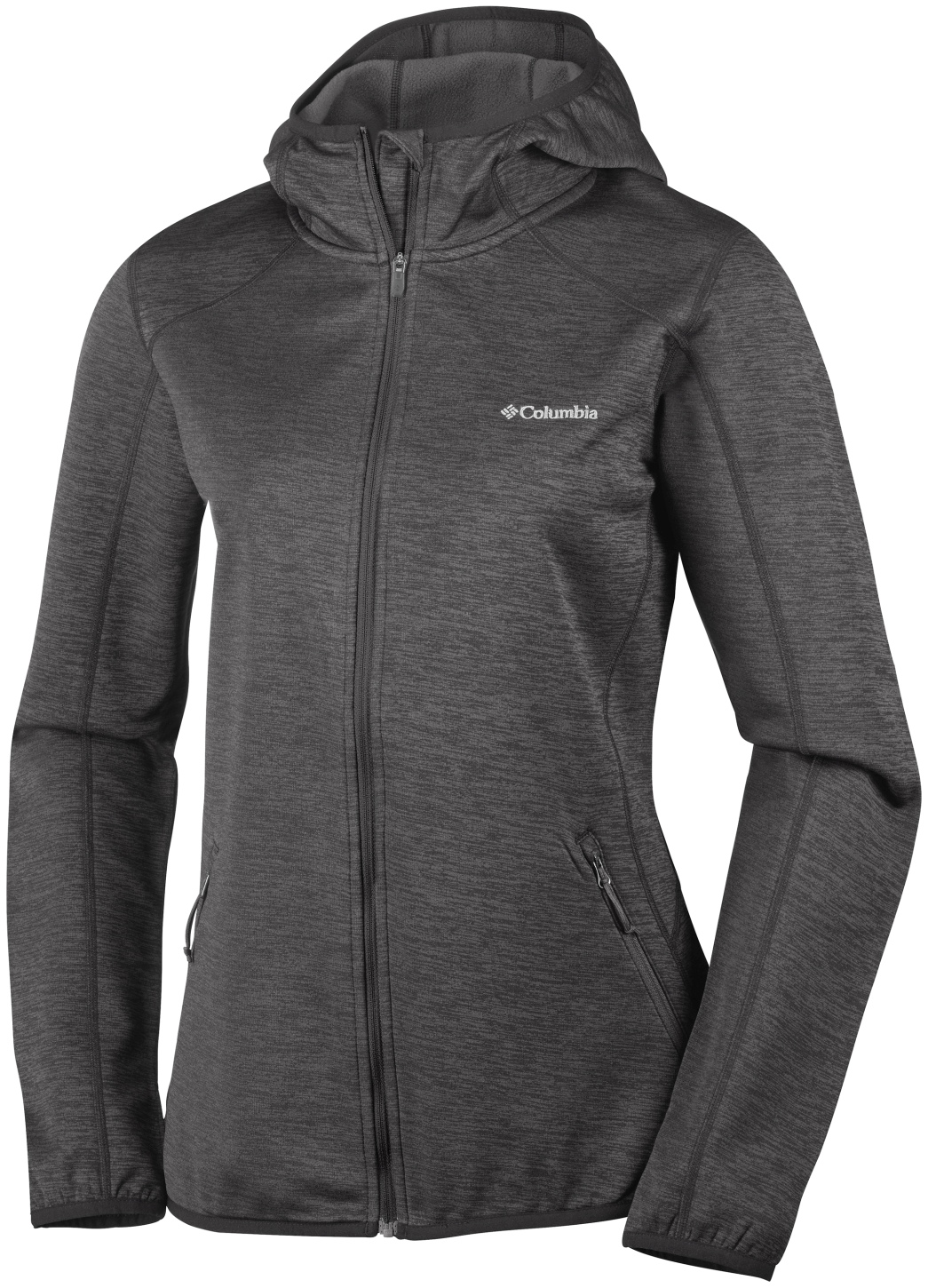 Columbia Women's Sapphire Trail Hooded Full Zip Fleece Black-30