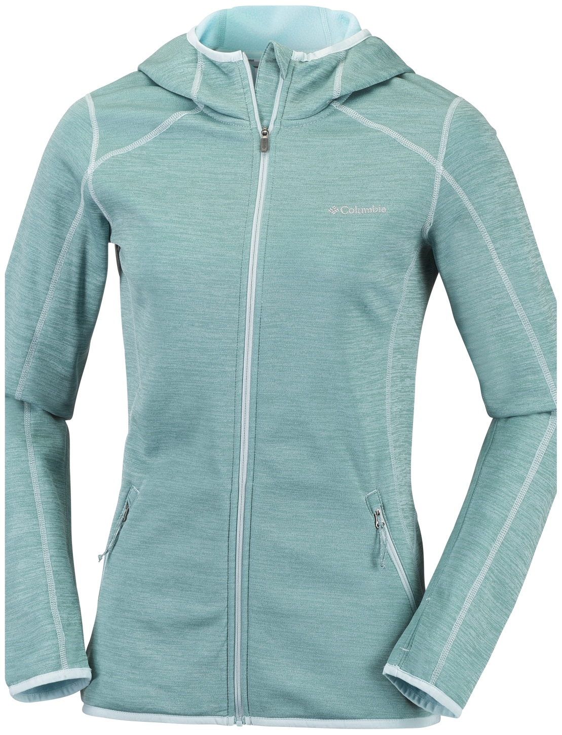 Columbia Women's Sapphire Trail Hooded Full Zip Fleece Dusty Green-30