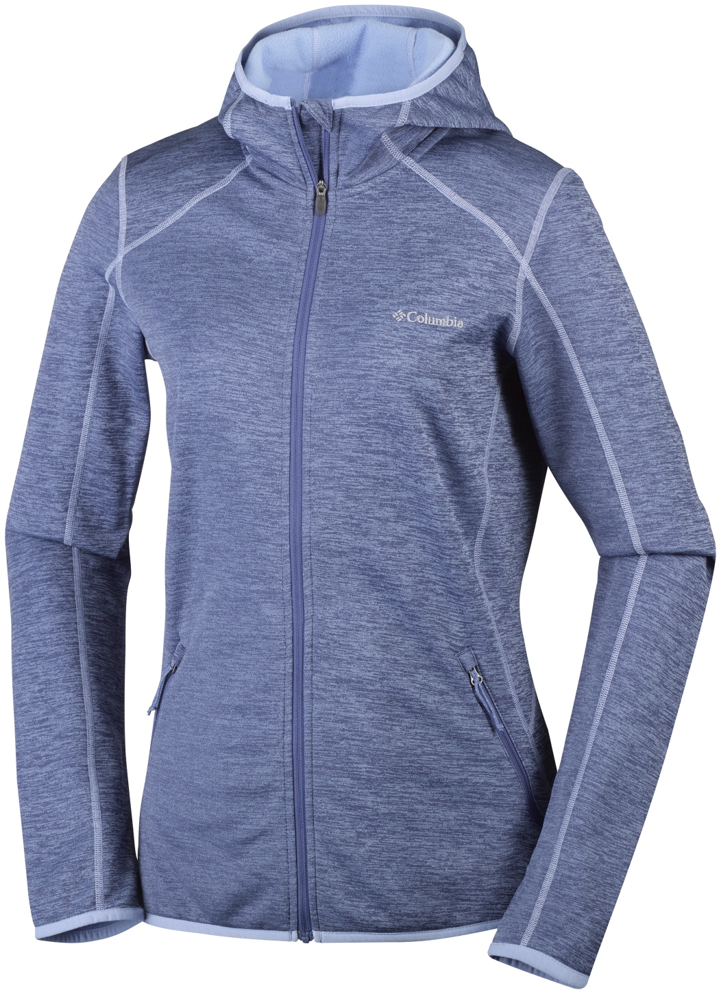 Columbia Women's Sapphire Trail Hooded Full Zip Fleece Bluebell-30