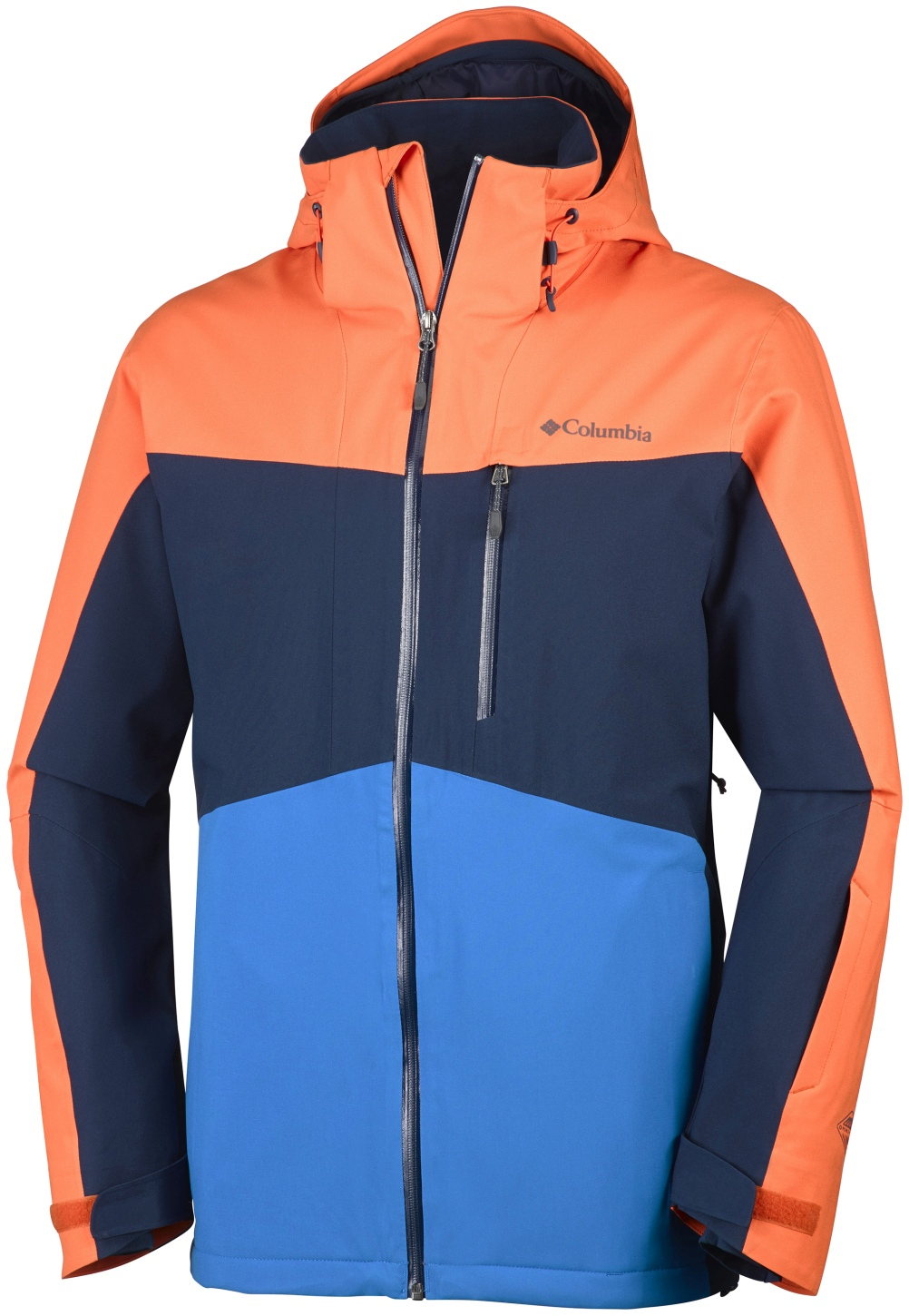 Columbia Men's Wild Card Ski Jacket Tangy Orange, Collegiate Navy-30
