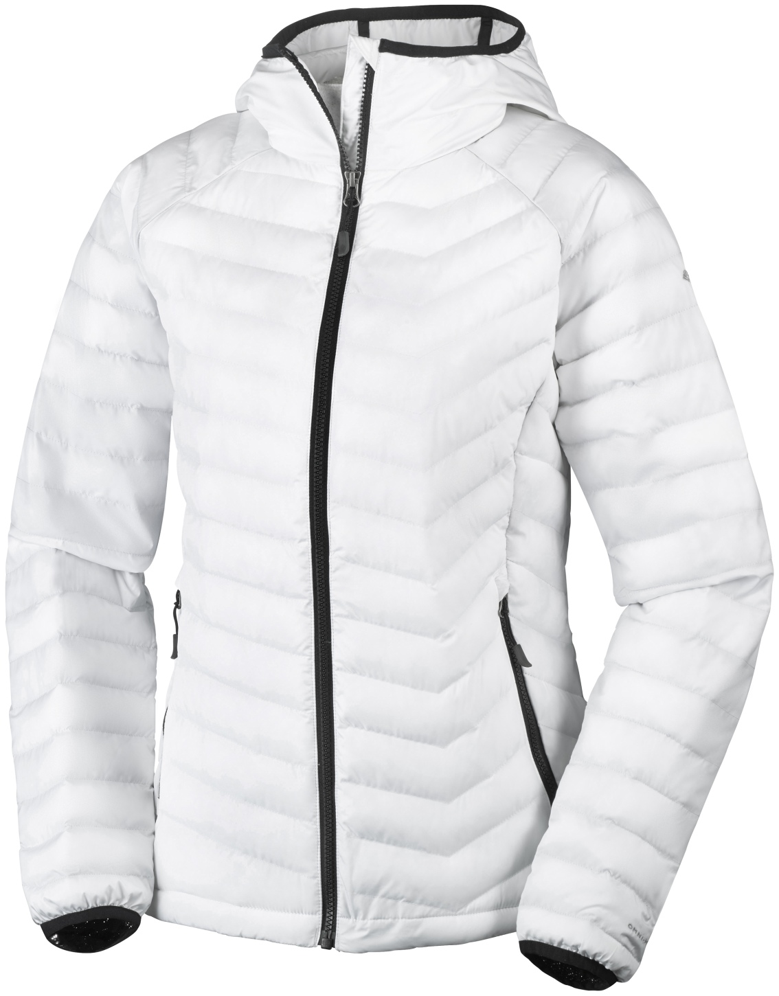 Columbia Women's Powder Lite Hooded Jacket White, Black-30