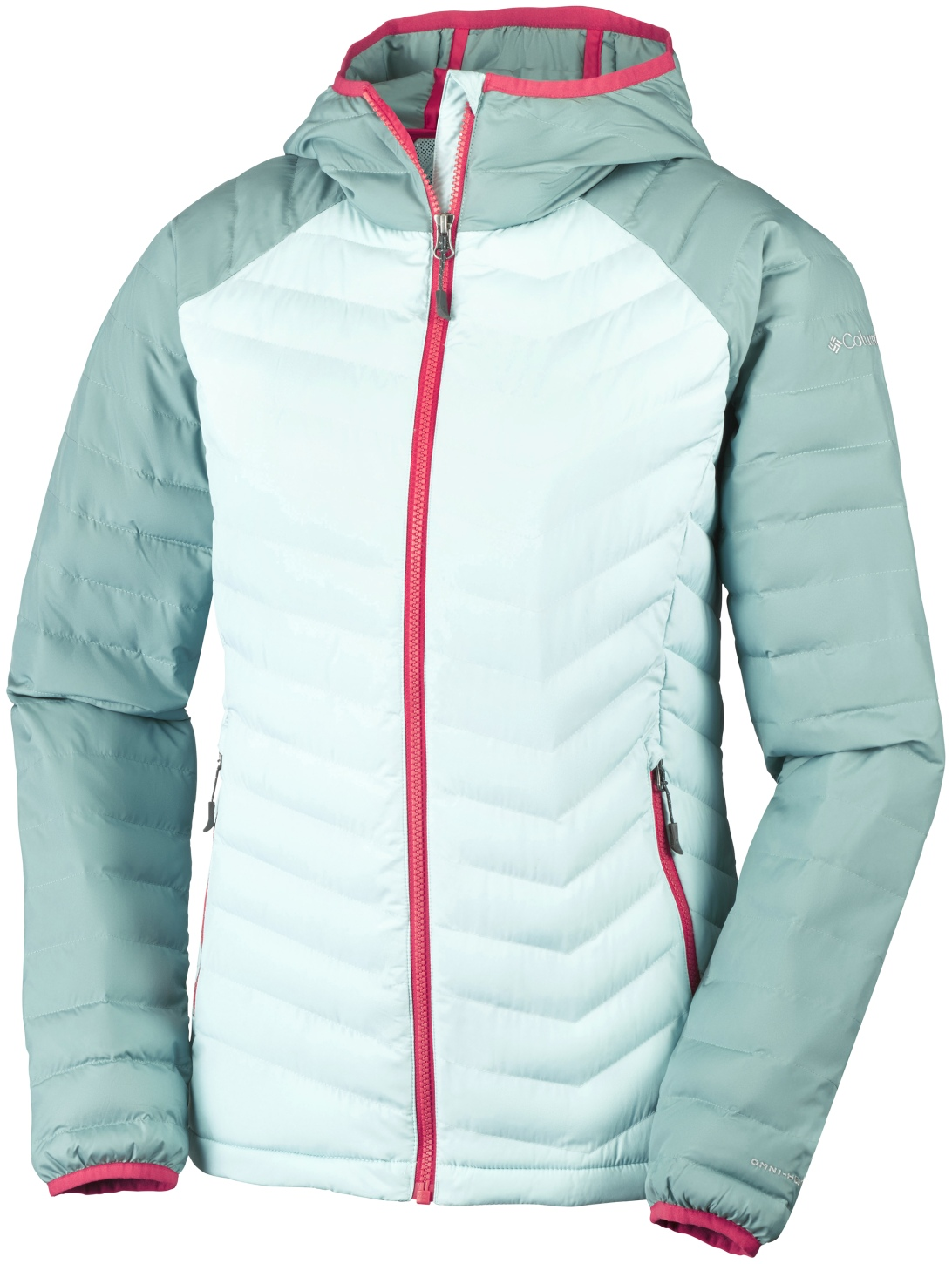 Columbia Women's Powder Lite Hooded Jacket Spray, Dusty Green-30