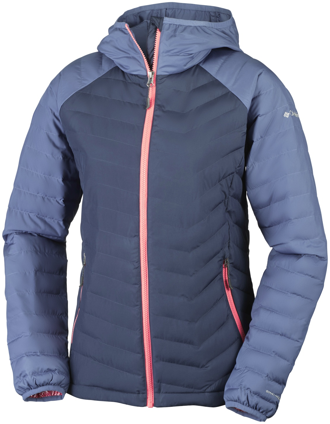 Columbia Women's Powder Lite Hooded Jacket Nocturnal, Bluebell-30