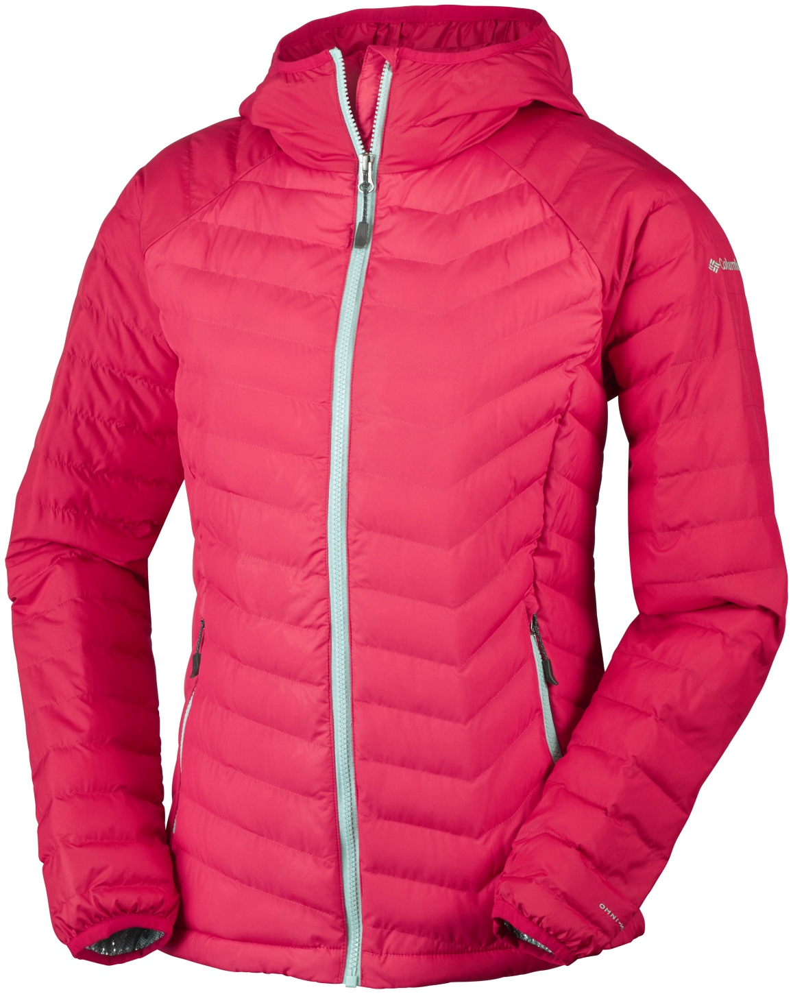 Columbia Powder Lite Jacke mit Kapuze für Damen Red Camellia, Red Lily-30