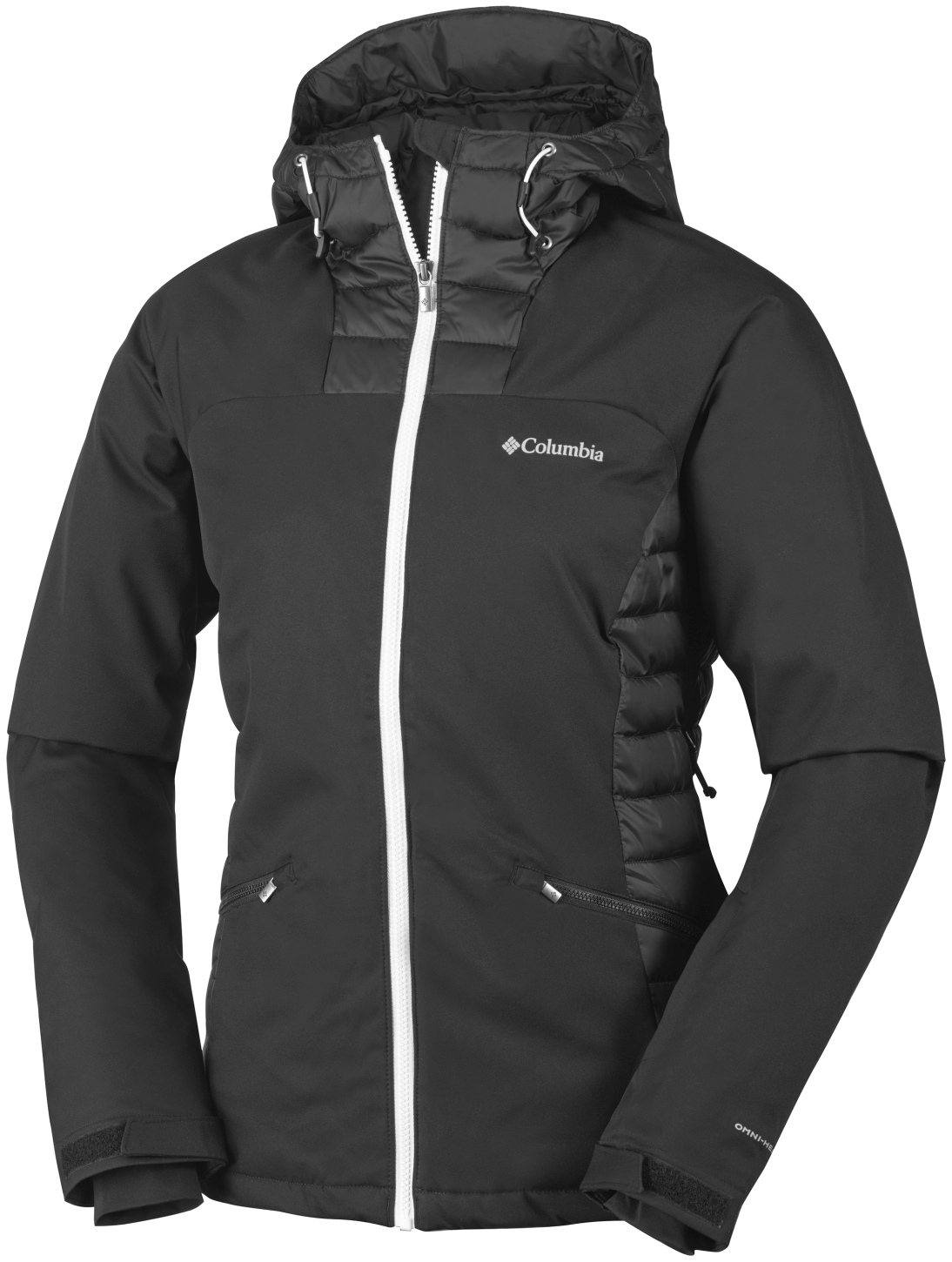 Columbia Women's Salcantay Hooded Ski Jacket Black, White-30