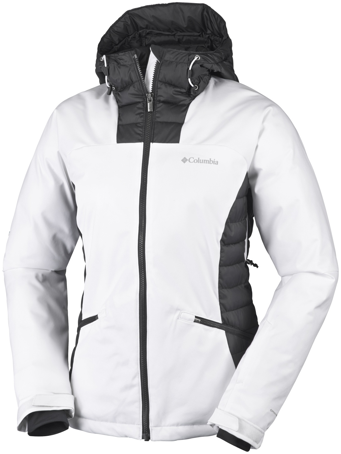 Columbia Women's Salcantay Hooded Ski Jacket White, Black-30