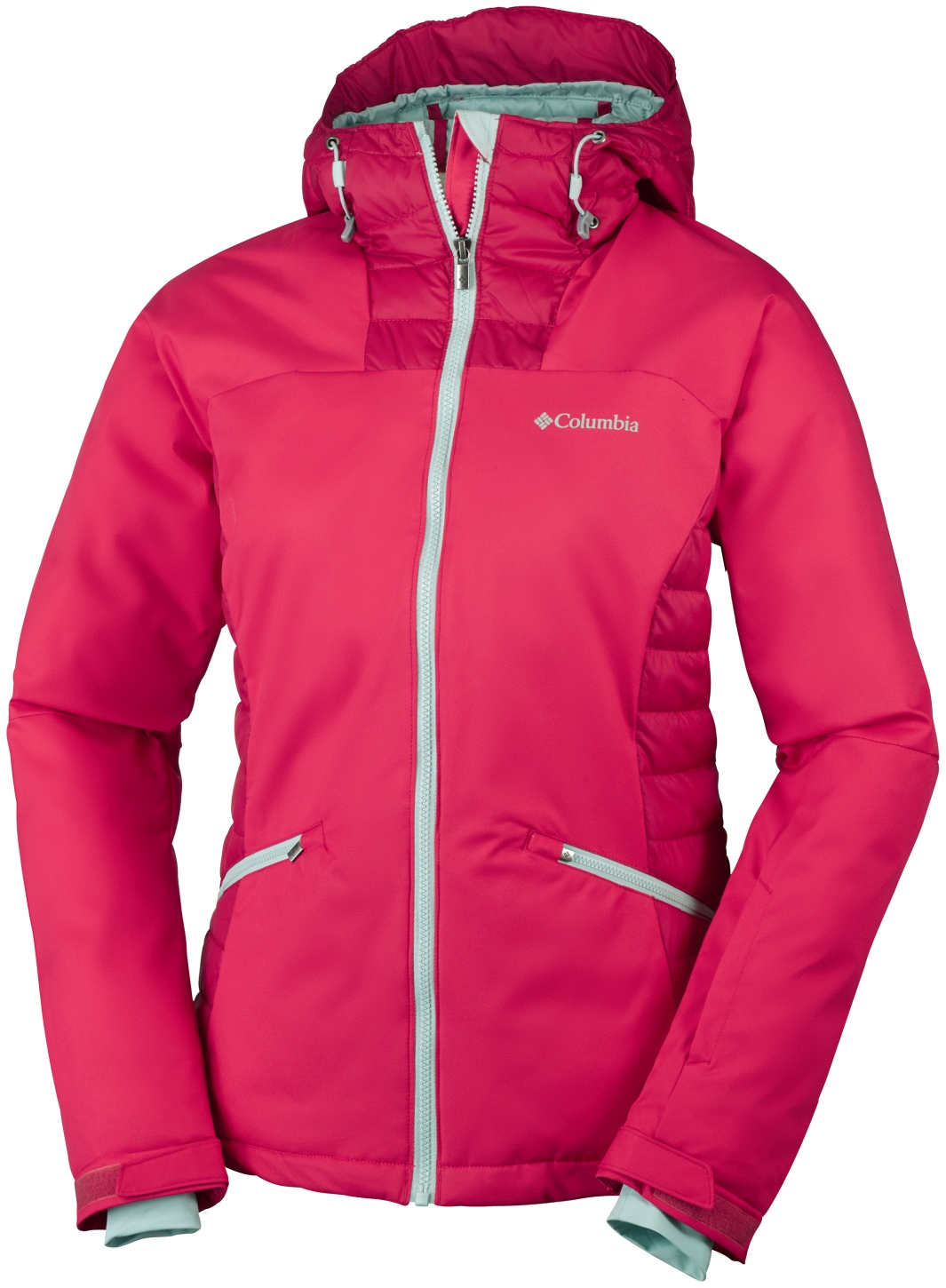 Columbia Women's Salcantay Hooded Ski Jacket Red Camellia, Red Lily-30