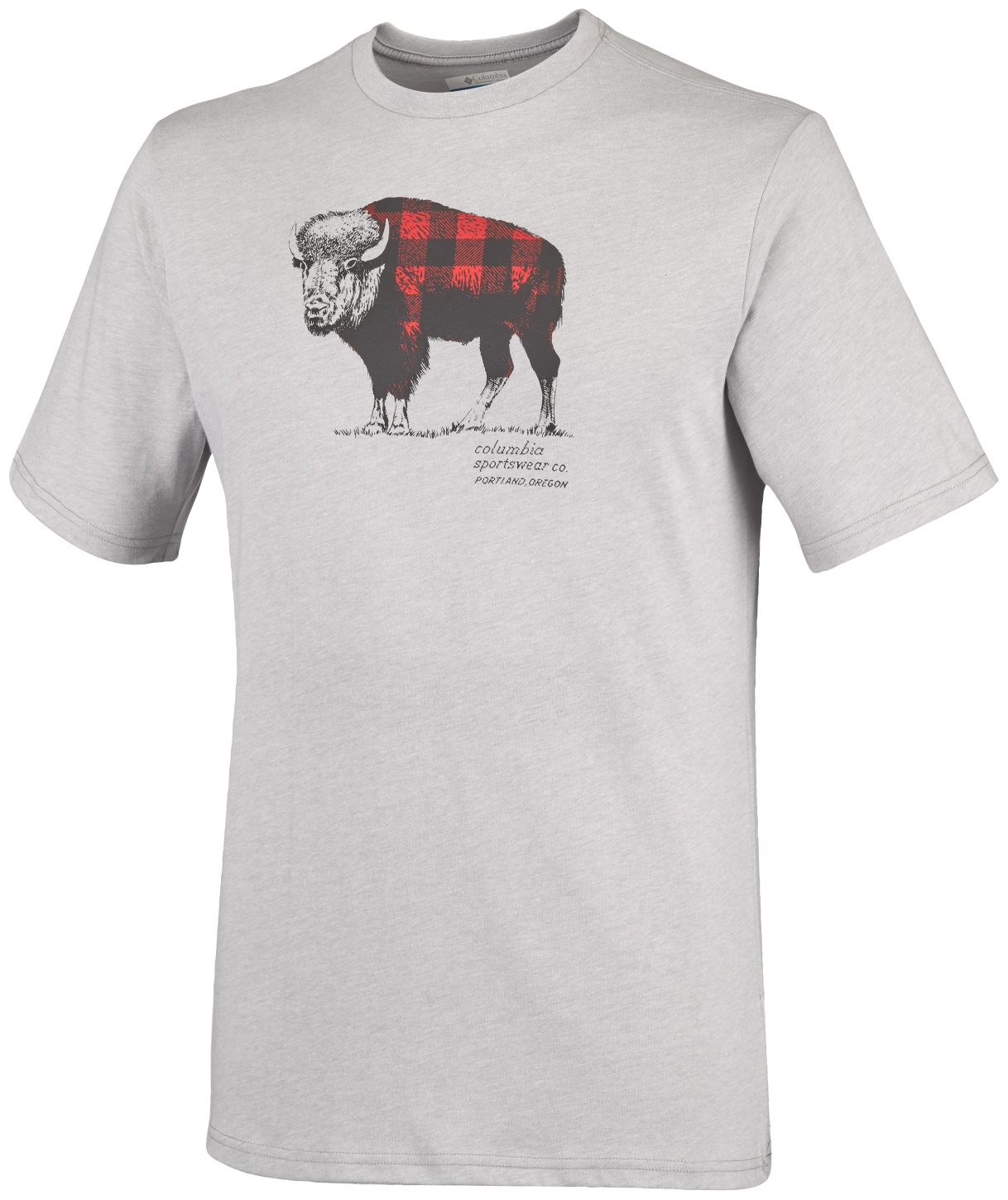 Columbia Men's CSC Check The Buffalo II Short Sleeve Grey Heather-30