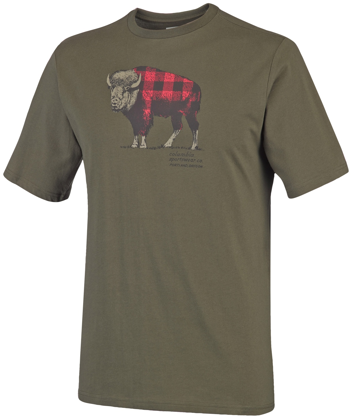 Columbia Men's CSC Check The Buffalo II Short Sleeve Peatmoss-30