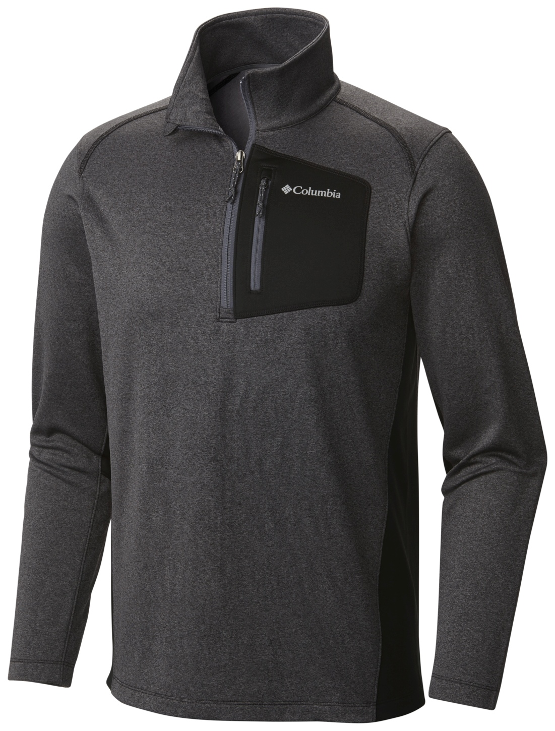 Columbia Men's Jackson Creek II Half Zip Black Heather-30