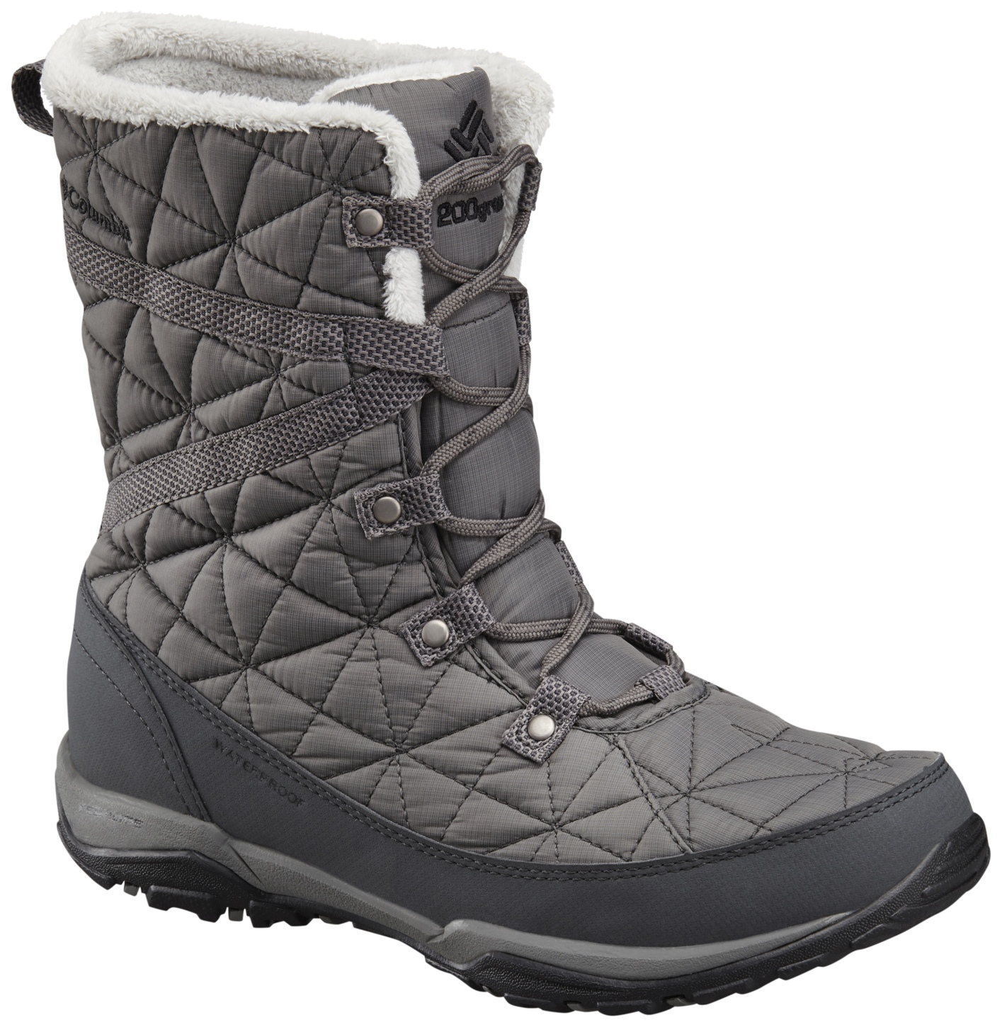 Columbia Women's Loveland Mid Omni-heat Waterproof Winter Boots Quarry, Black-30