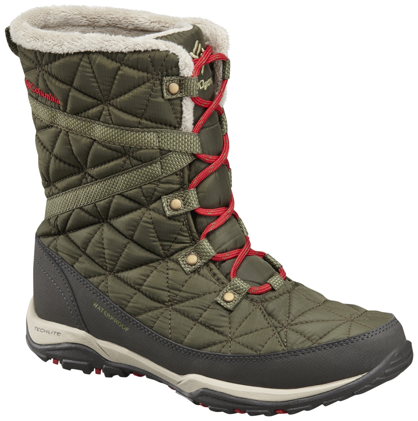 Columbia Women's Loveland Mid Omni-heat Waterproof Winter Boots Nori, Burnt Henna-30