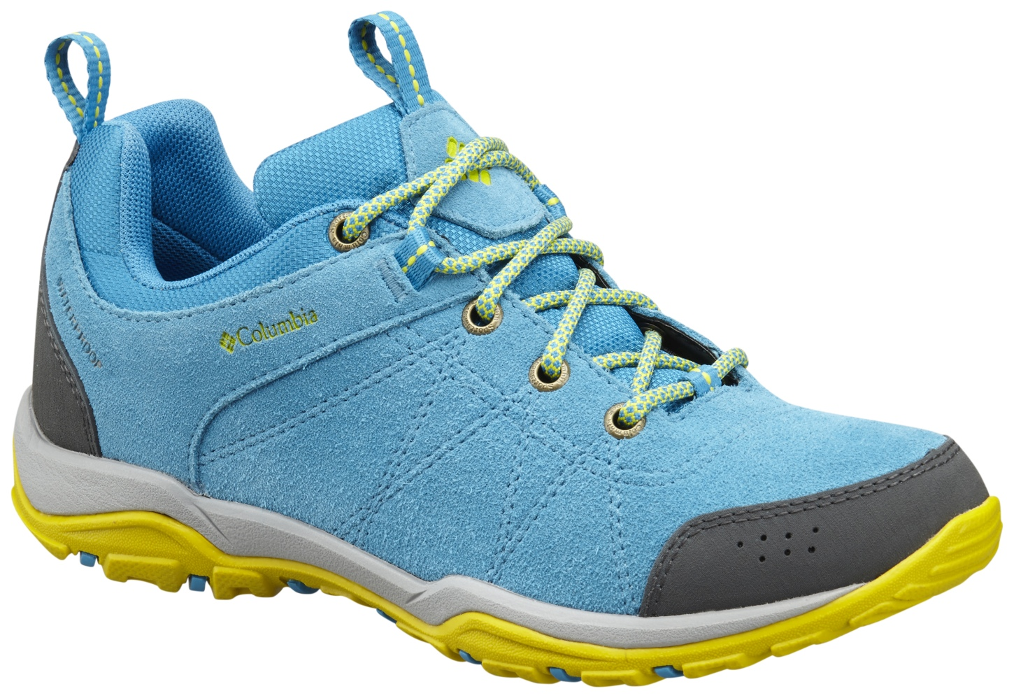 Columbia Women's Fire Venture Low Waterproof Shoes Oxide Blue, Ginkgo-30
