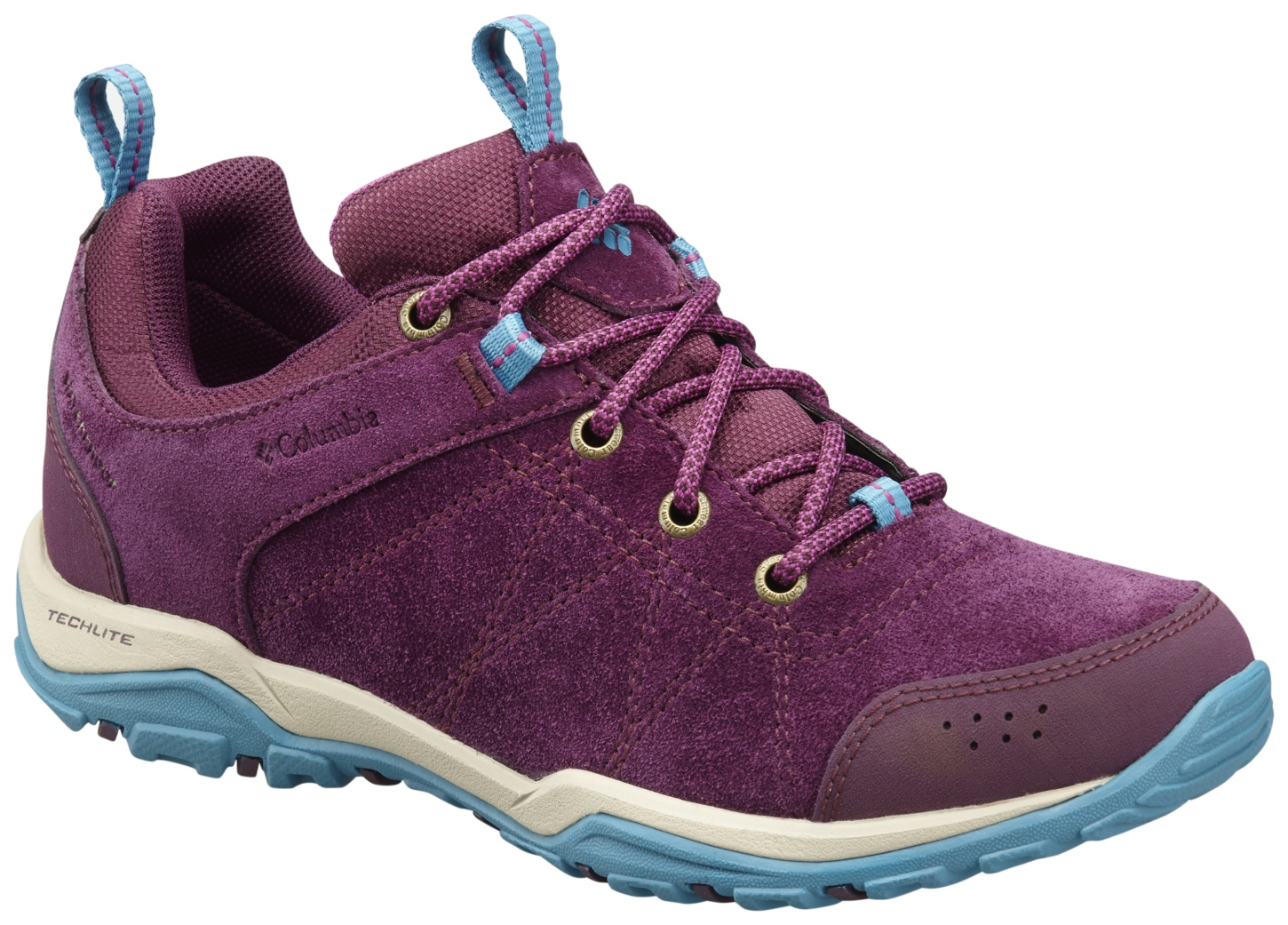 Columbia Women's Fire Venture Low Waterproof Shoes Purple Dahlia, Intense Violet-30