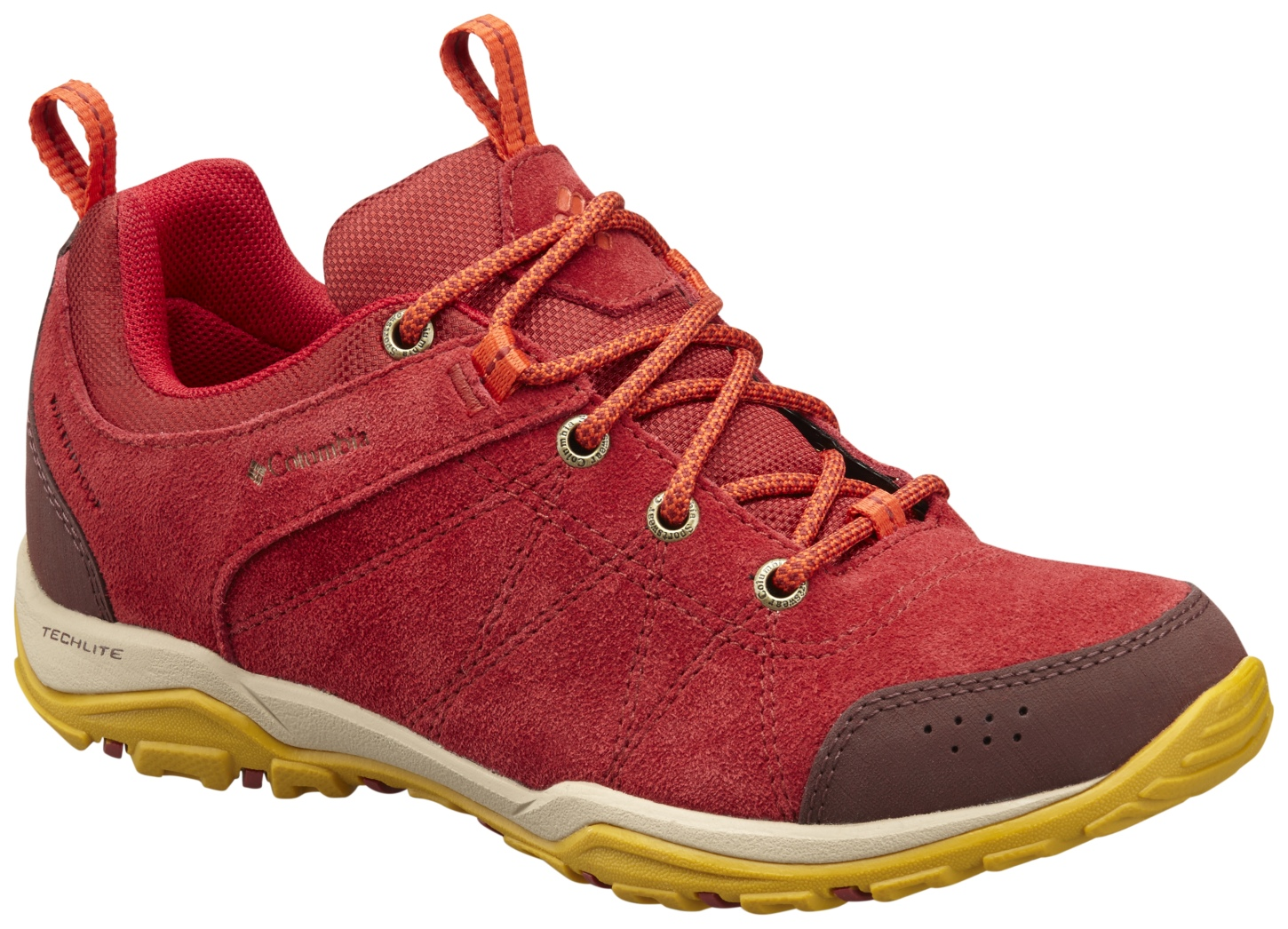 Columbia Women's Fire Venture Low Waterproof Shoes Red Dahlia, Bonfire-30
