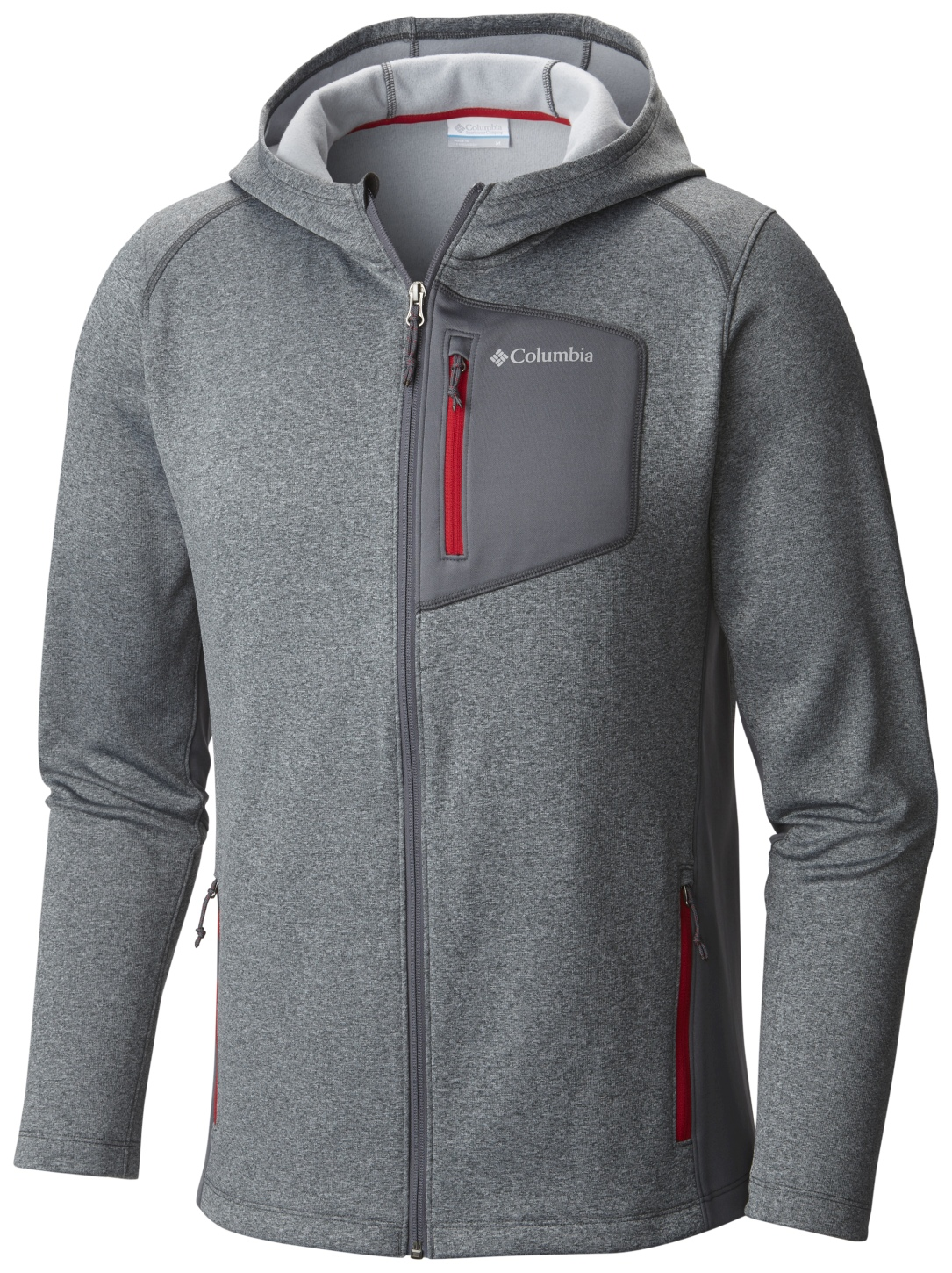 Columbia Men's Jackson Creek II Hoodie Graphite, Mountain Red-30