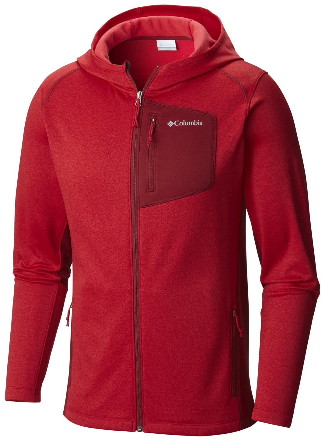 Columbia Men's Jackson Creek II Hoodie Mountain Red Heather-30