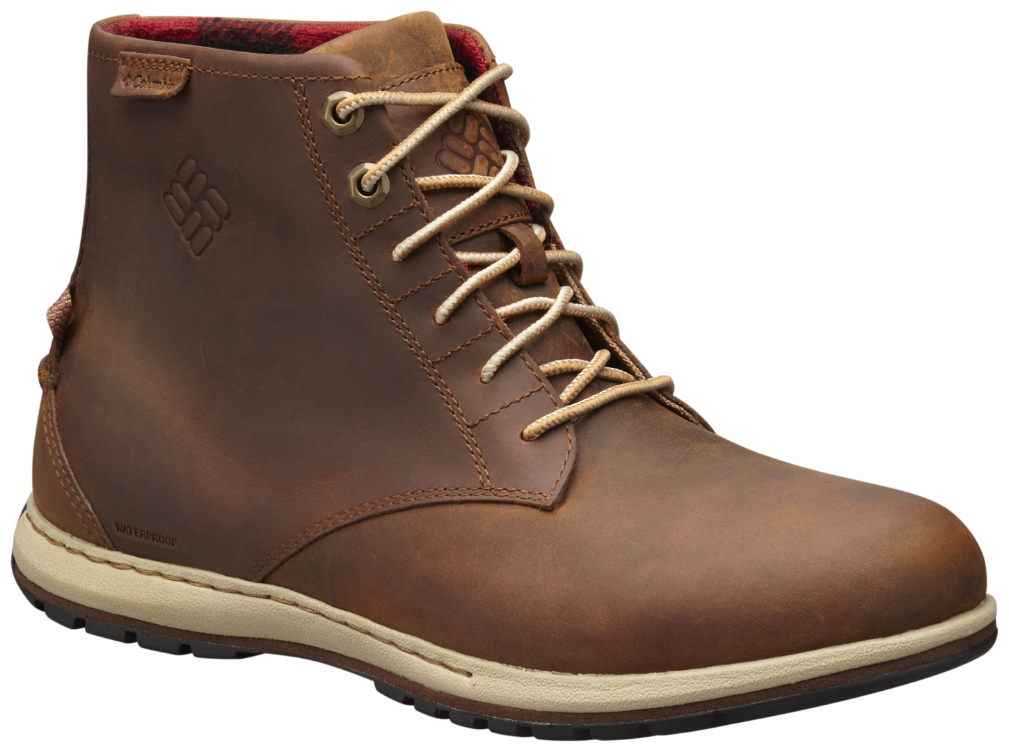 Columbia Men's Davenport Six Waterproof Leather Boots Elk, Buro-30