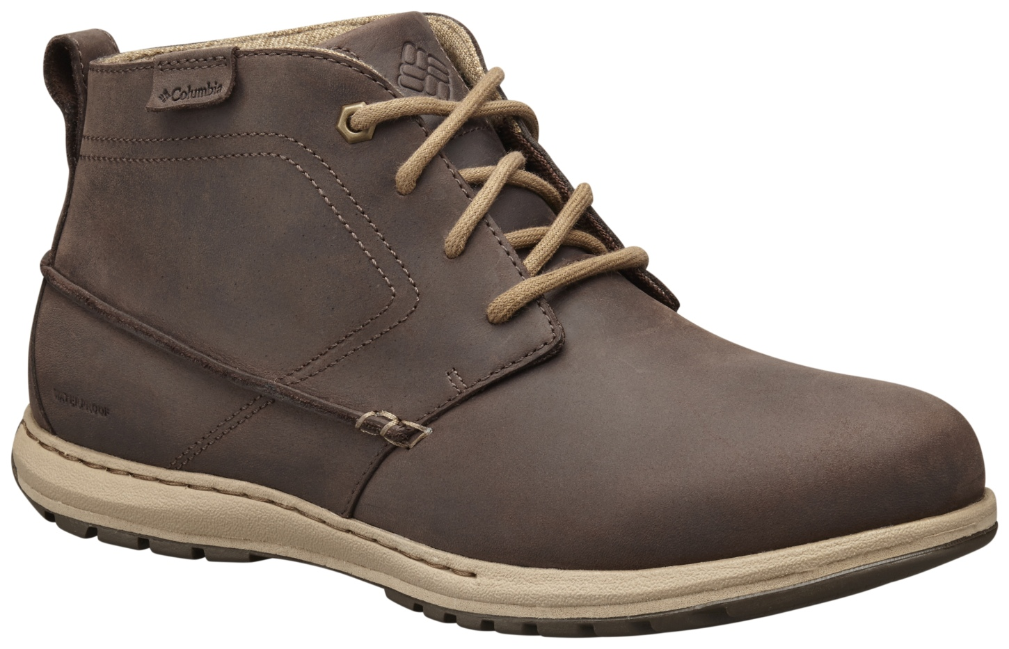 Columbia Men's Davenport Chukka Waterproof Leather Boots Cordovan, Prairie Sand-30