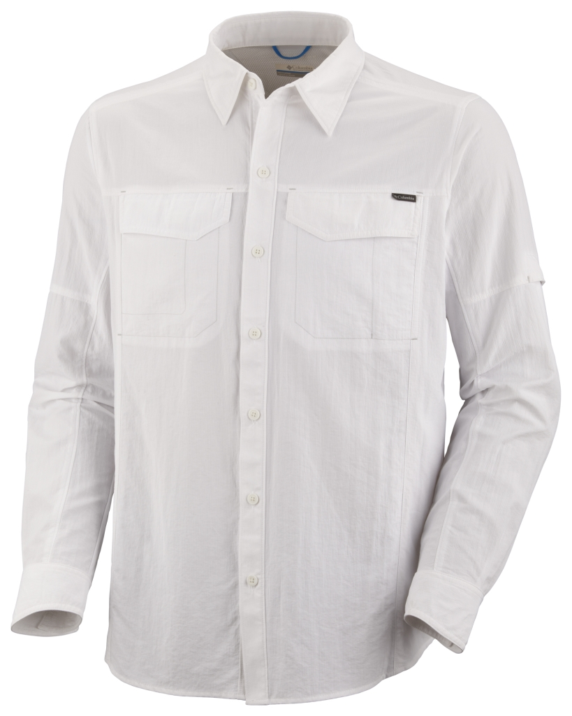 Columbia Men'S Silver Ridge Long Sleeve Shirt White-30