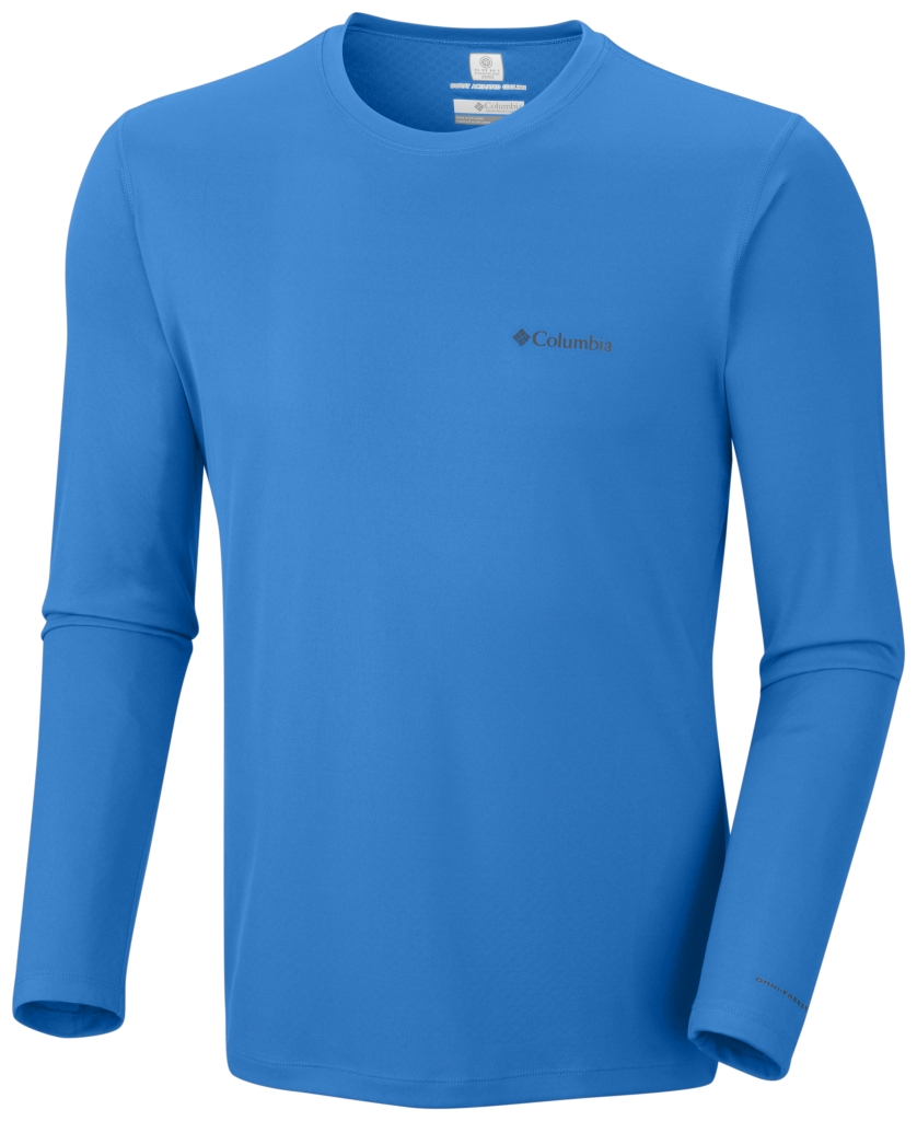 Columbia Zero Rules Long Sleeve Shirt Hyper Blue-30