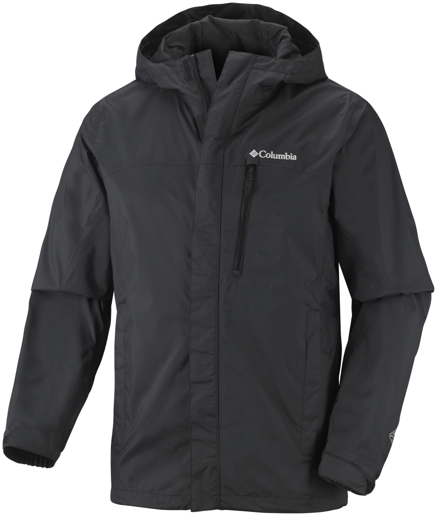 Columbia Men'S Pouring Adventure Jacket Black-30