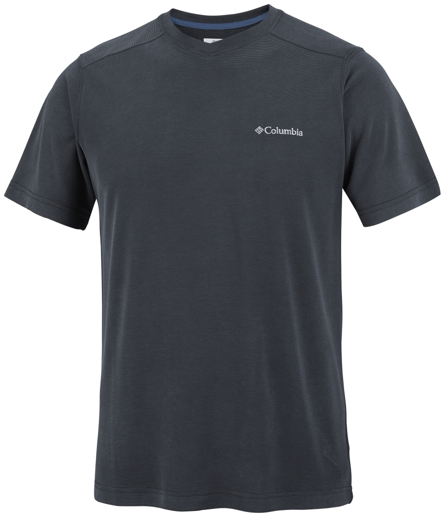 Columbia Sun Ridge Novelty Short Sleeve V Black-30