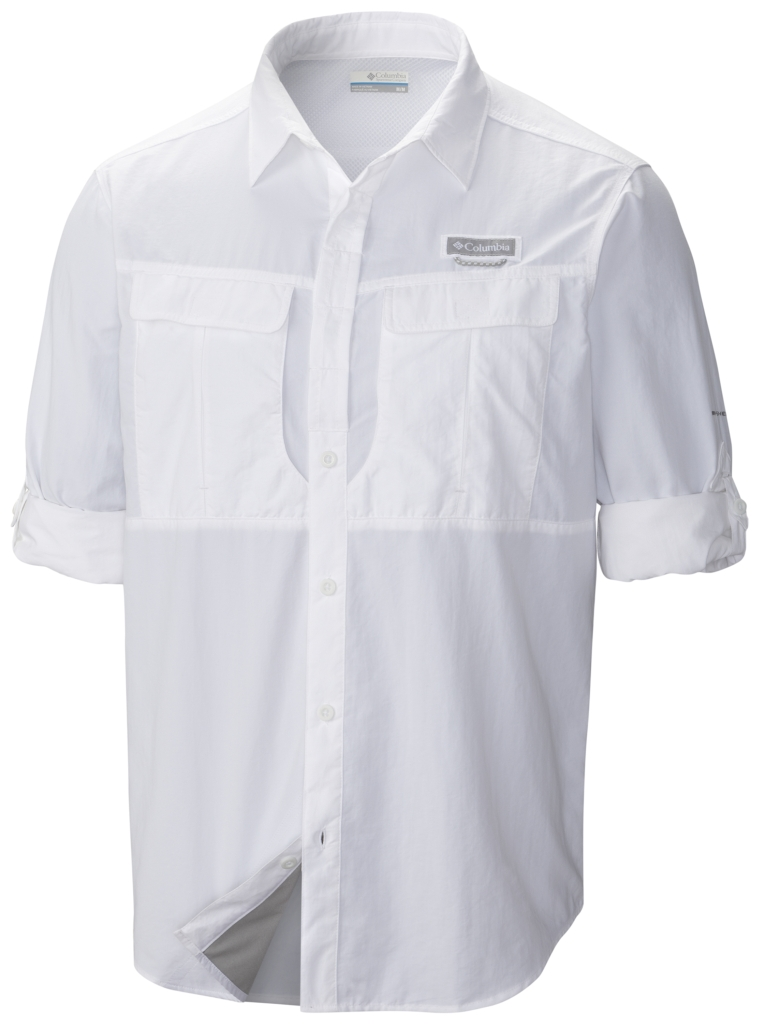 Columbia Cascades Explorer Long Sleeve Shirt White-30
