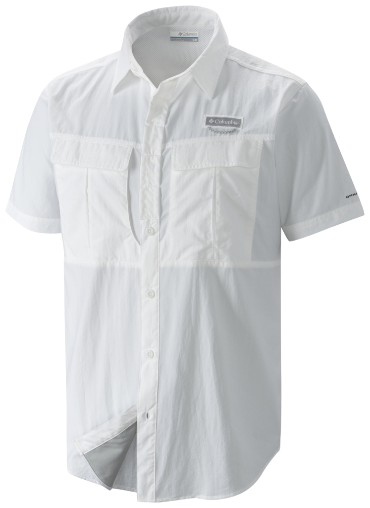 Columbia Cascades Explorer Short Sleeve Shirt White-30