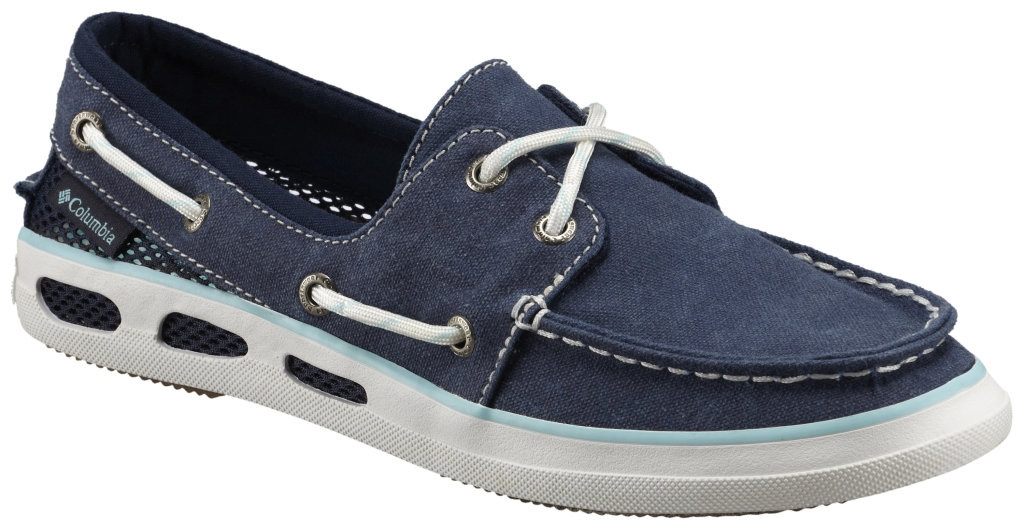 Columbia Vulc N Vent Boat Canvas Collegiate Navy, Candy Mint-30