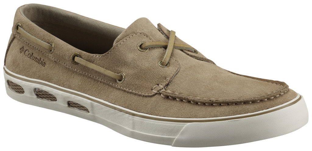 Columbia Vulc N Vent Boat Suede British Tan, Sea Salt-30