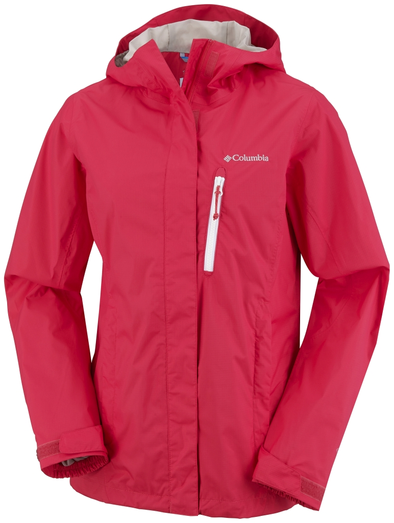 Columbia Women's Pouring Adventure Jacket Red Hibiscus-30