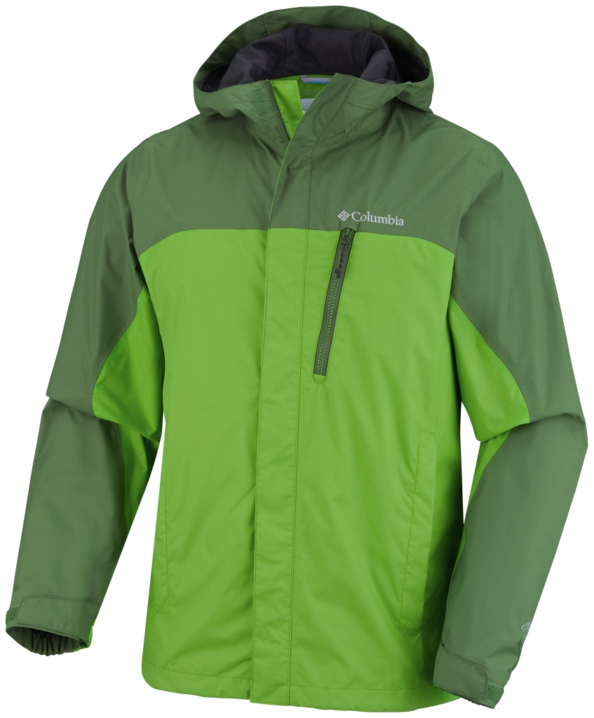 Columbia Men's Pouring Adventure Jacket Cyber Green Dark Backcountry-30
