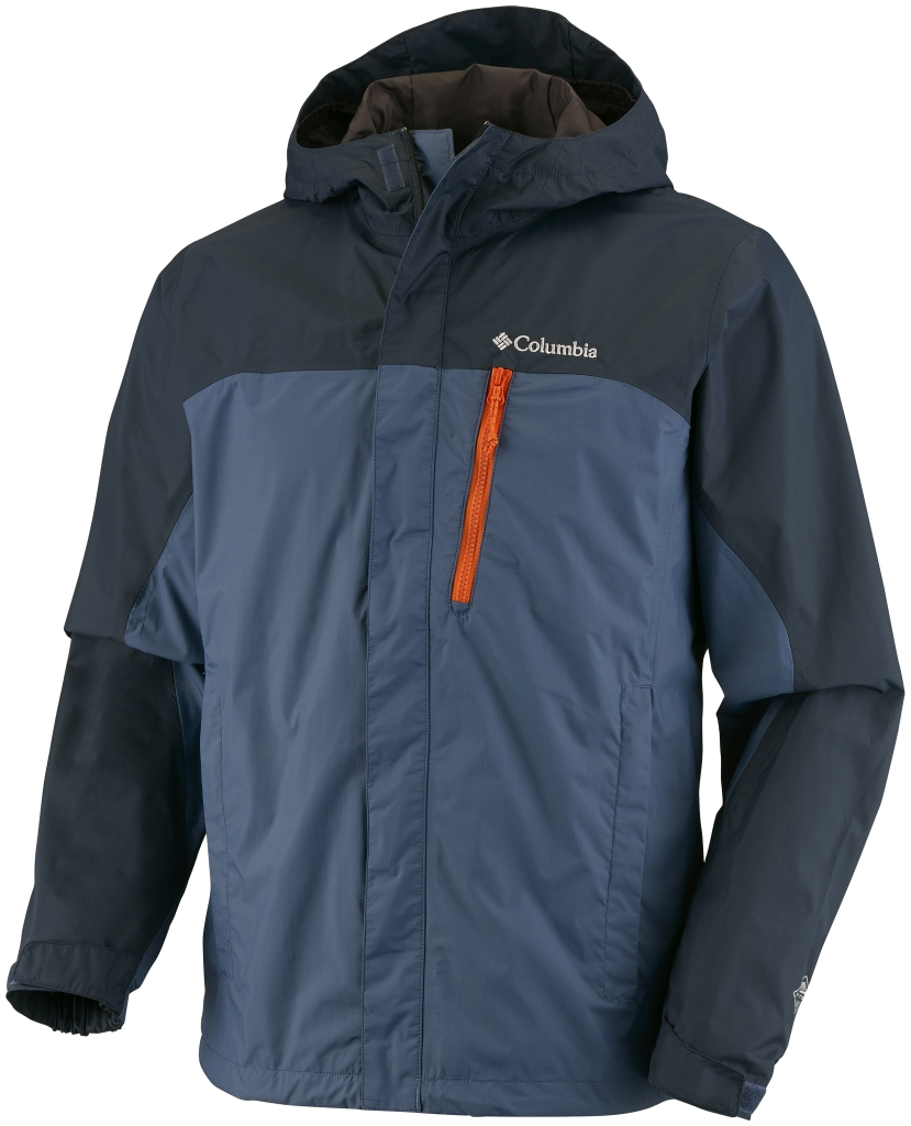 Columbia Men's Pouring Adventure Jacket Everblue Night Shadow-30