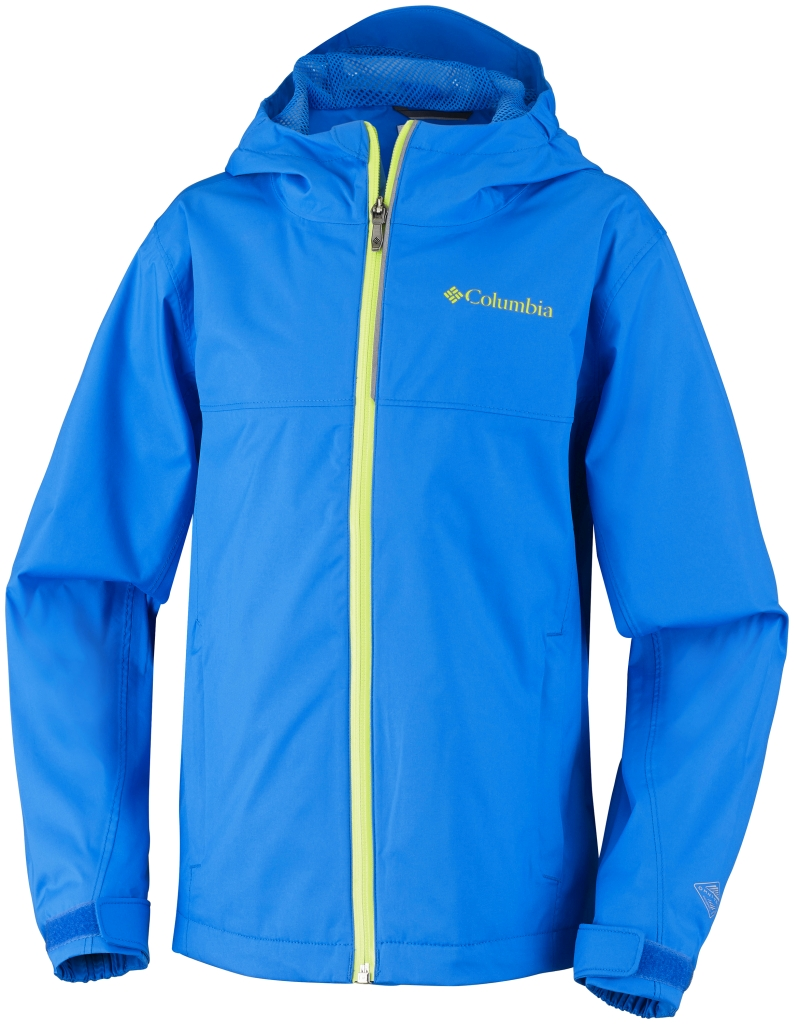 Columbia Youth Splash Maker III Rain Jacket Hyper Blue Chartreuse-30
