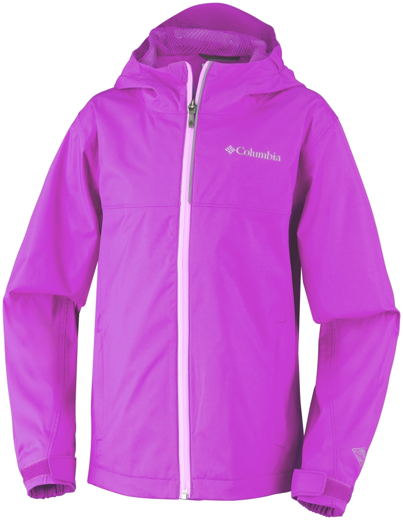 Columbia Youth Splash Maker III Rain Jacket Foxglove-30