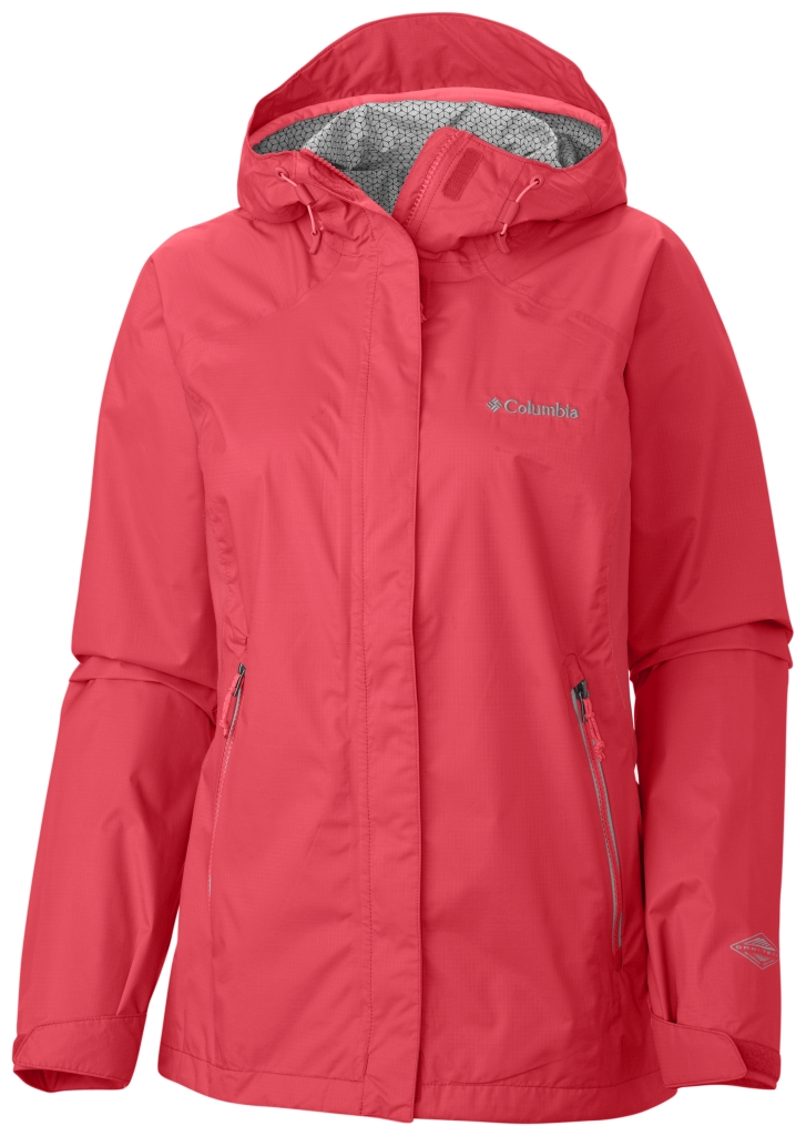 Columbia Women'S Rainstormer Jacket Red Hibiscus-30