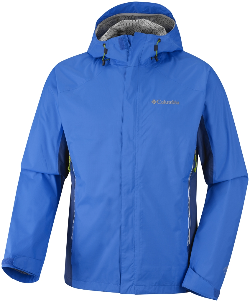 Columbia Men'S Rainstormer Jacket Hyper Blue Marine Blue-30