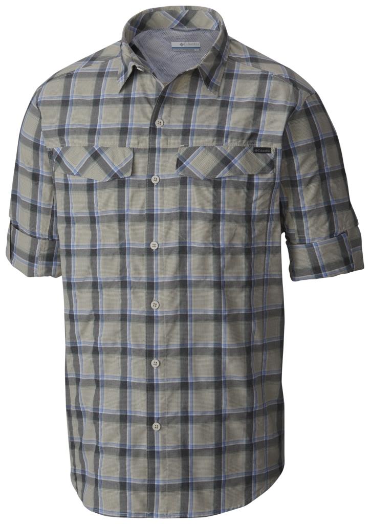 Columbia Silver Ridge Plaid Long Sleeve Shirt Stone Heather Plaid-30