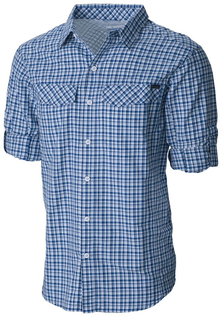 Columbia Silver Ridge Plaid Long Sleeve Shirt Night Tide Ripstop Plaid-30