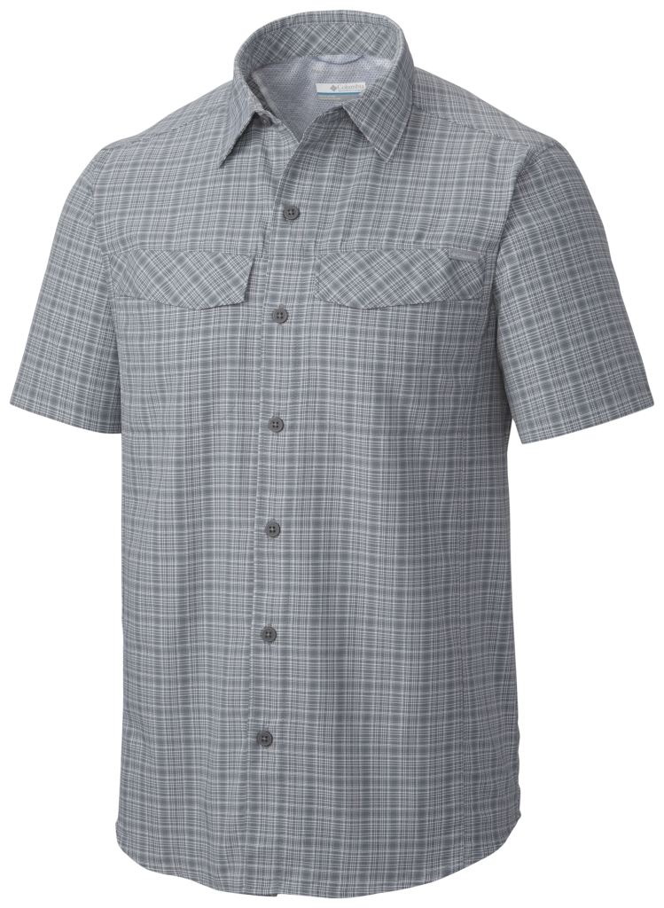 Columbia Silver Ridge Multi Plaid S/S Shirt Grey Ash Dobby Plaid-30