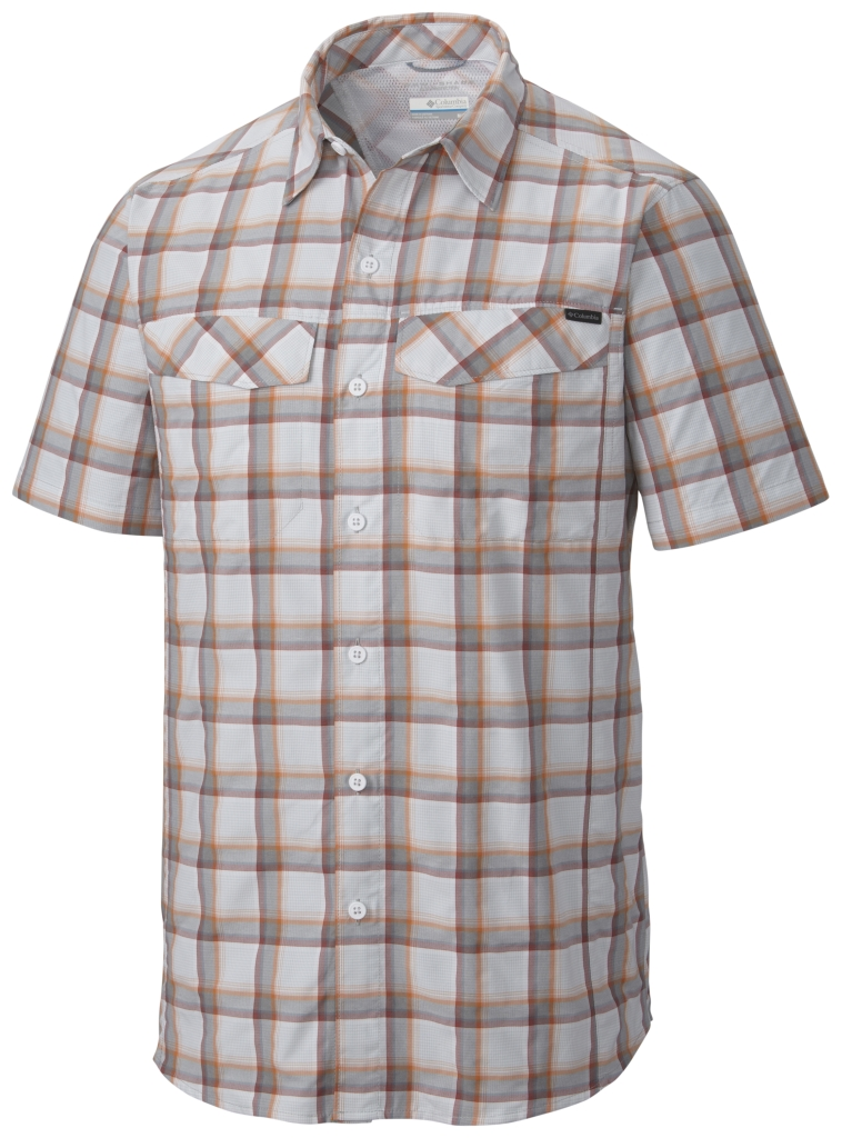 Columbia Silver Ridge Multi Plaid S/S Shirt Columbia Grey Heather Plaid-30