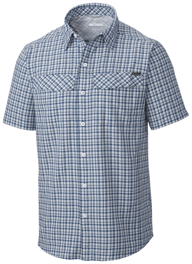 Columbia Silver Ridge Multi Plaid S/S Shirt Night Tide Ripstop Plaid-30