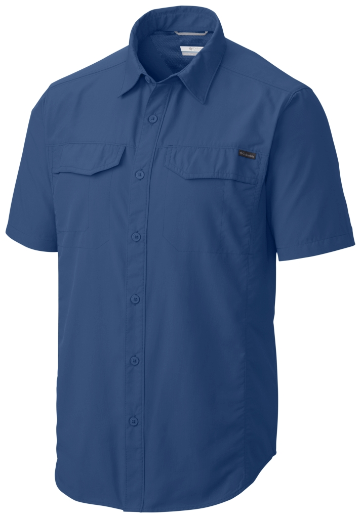 Columbia Silver Ridge Short Sleeve Shirt Marine Blue-30