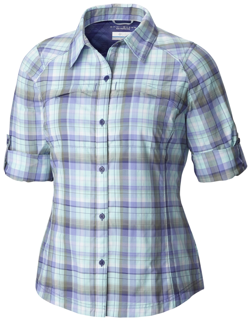 Columbia Silver Ridge Plaid Long Sleeve Shirt Skyward Dobby Plaid-30