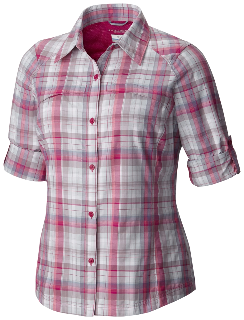 Columbia Silver Ridge Plaid Long Sleeve Shirt Haute Pink Dobby Plaid-30