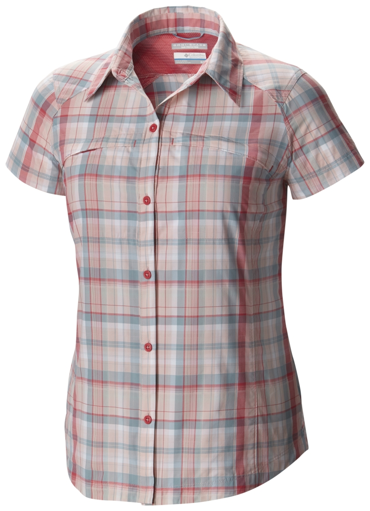 Columbia Silver Ridge Multi Plaid S/S Shirt Rosewater Dobby Plaid-30